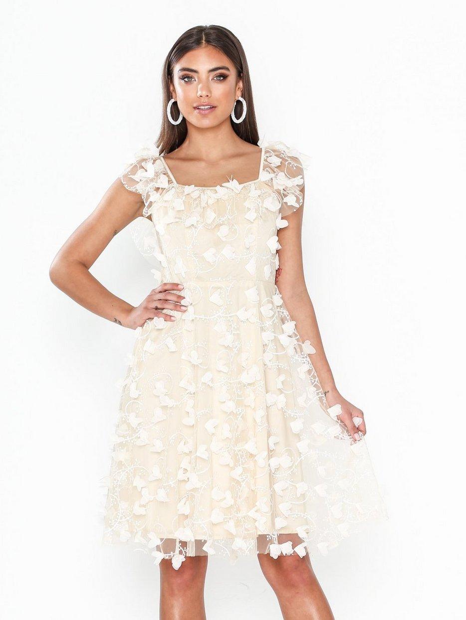 Köp Ida Sjöstedt Fawn Dress Cream | Festklänningar