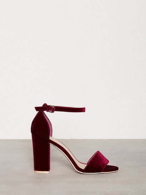 Billede af NLY Shoes Block Heel Sandal High Heel Burgundy