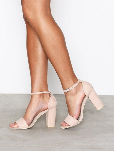 Billede af NLY Shoes Block Heel Sandal High Heel Dusty Pink