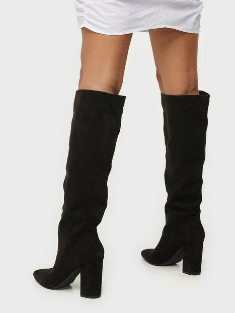 Billede af NLY Shoes Wide Knee High Boot Knee-high Sort