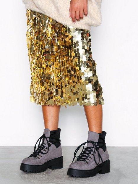 NLY Shoes Sneaker Sock Boot Flat Grå