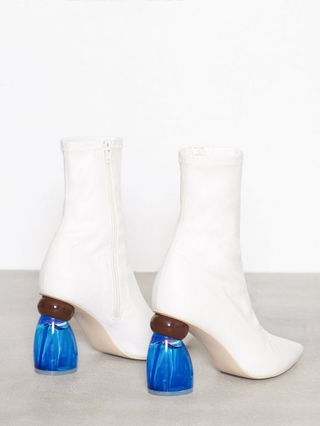 Pointy Glass Heel Boot