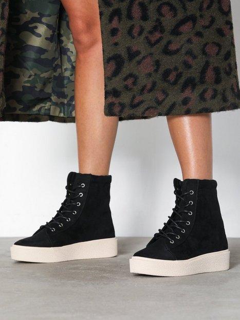 Billede af NLY Shoes High Shaft Sneaker Boot Flat Sort