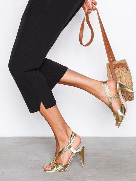 Billede af NLY Shoes Ankle Roll Knot Sandal High Heel Guld