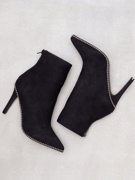 NLY Shoes Rivet Stiletto Boot Heel Sort