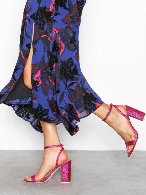Billede af NLY Shoes Brilliant Block Heel Sandal High Heel Rosa/Lyserød