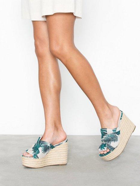 Billede af NLY Shoes Printed Bow Wedge Sandal Wedge