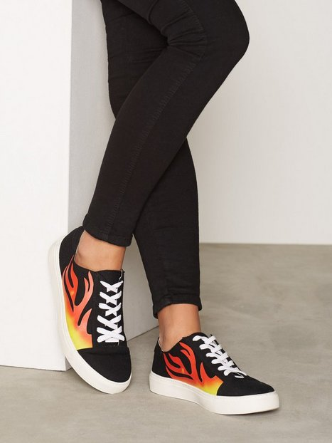 NLY Shoes Flame Sneaker Low Top Svart thumbnail