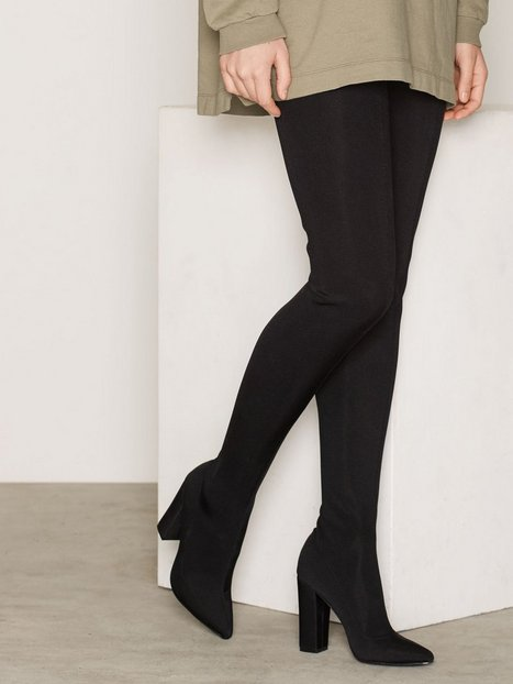 Shiny Super Thigh High Boot - Nly Shoes - Black - Boots - Shoes ...