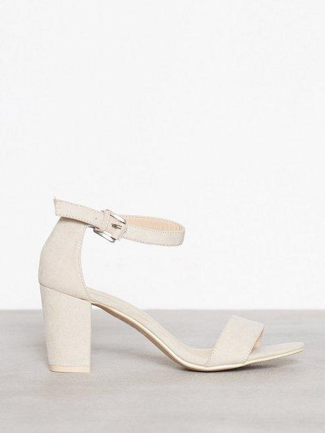 Block Mid Heel Sandal
