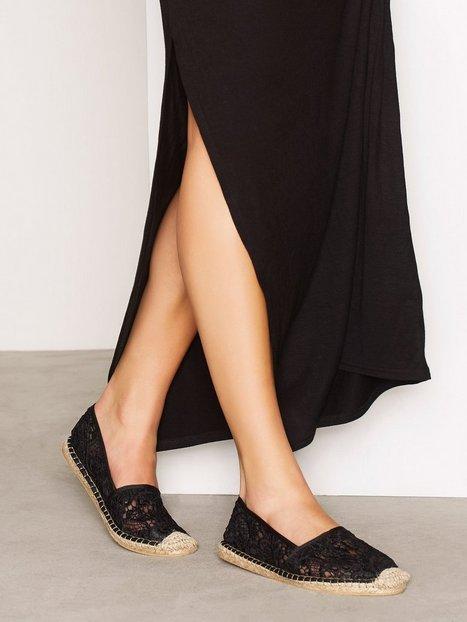 Billede af NLY Shoes Lace Espadrille Espadrilles Sort
