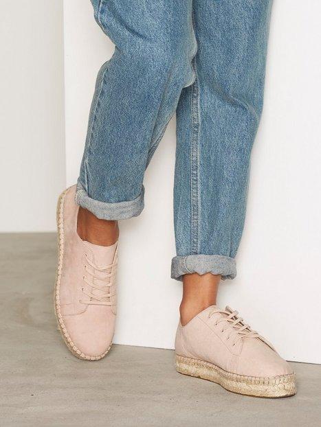 Billede af NLY Shoes Lace Up Espadrille Espadrilles Dusty Pink