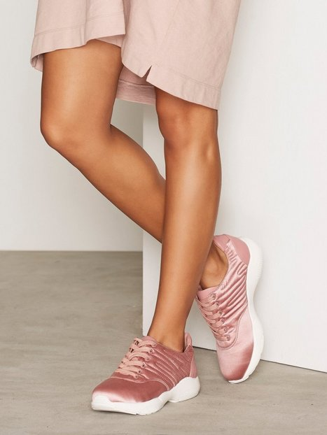 NLY Shoes Satin Sneaker Low Top Rosa thumbnail