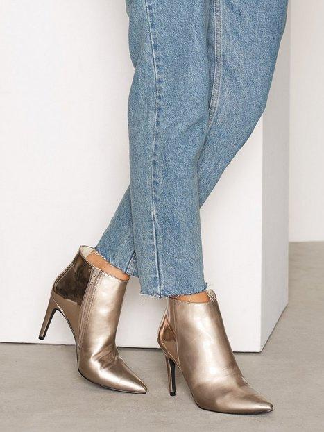 Billede af NLY Shoes Metallic Stiletto Boot Boots Sølv