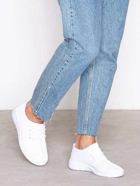 NLY Shoes Knitted Sneaker Low Top Vit thumbnail