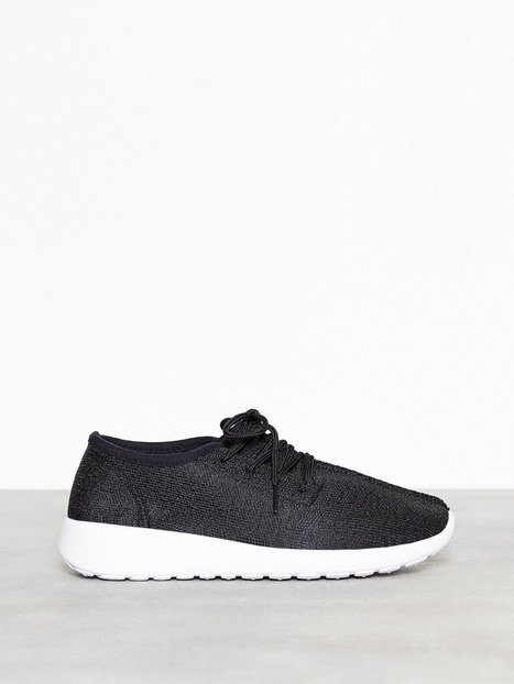 NLY Shoes Knitted Sneaker Low Top Svart thumbnail