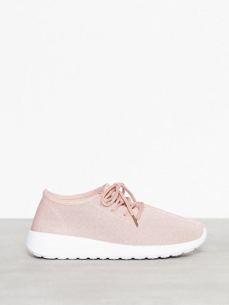 NLY Shoes Knitted Sneaker Low Top Dusty Pink thumbnail