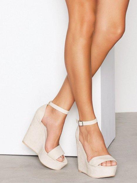 Billede af NLY Shoes Wedge Sandal Wedge Beige