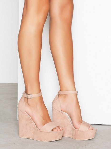 Billede af NLY Shoes Wedge Sandal High Heel Dusty Pink