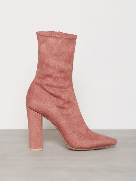 Billede af NLY Shoes Pointy Stretchy Block Boot Boots Dusty Rose