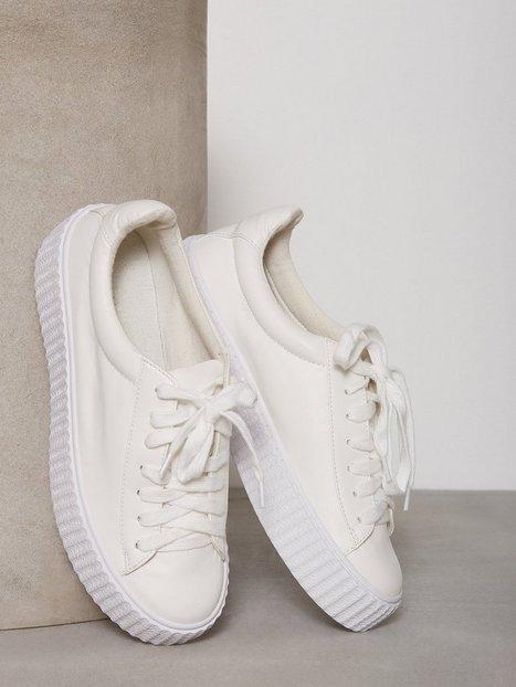 NLY Shoes Rubber Sole Sneaker Low Top Vit thumbnail