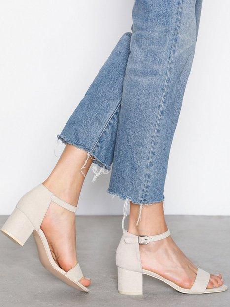 NLY Shoes Low Block Heel Sandal Low Heel Beige