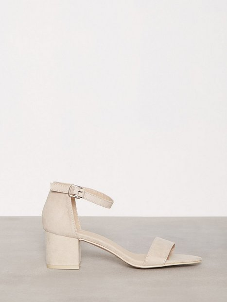 NLY Shoes Low Block Heel Sandal Low Heel Beige thumbnail