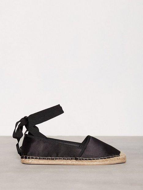 Billede af NLY Shoes Lace Espadrilles Espadrilles Sort