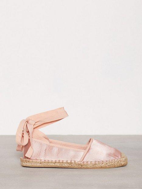 Billede af NLY Shoes Lace Espadrilles Espadrilles Rosa/Lyserød