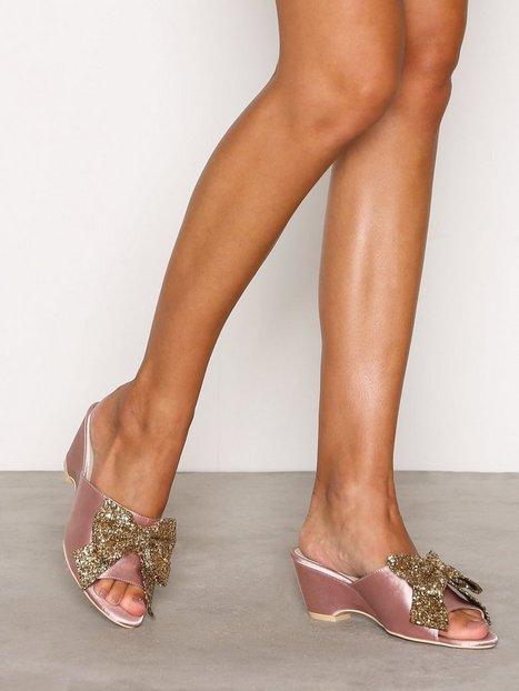 Billede af NLY Shoes Glitter Bow Sandal Wedge Rosa/Lyserød