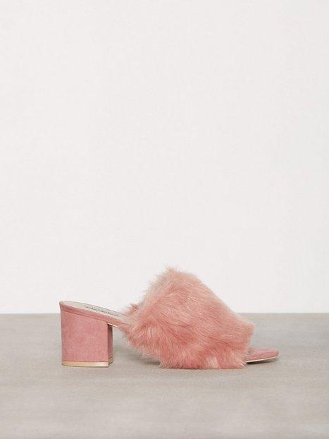 Billede af NLY Shoes Faux Fur Mule Low Heel Dusty Pink