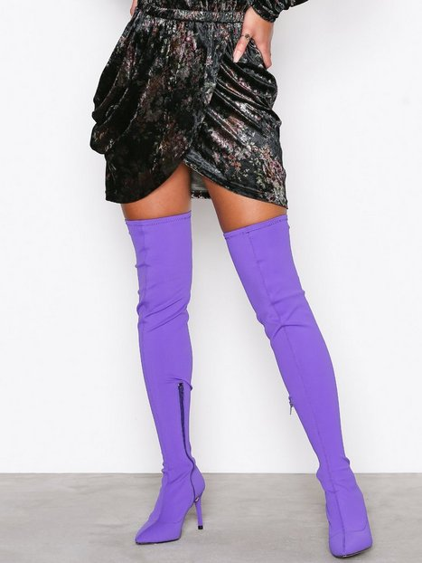 Billede af NLY Shoes Pointy Stiletto Thigh Boot Thigh-high Lilla