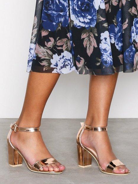 Billede af NLY Shoes Block Mid Heel Sandal Low Heel Roséguld