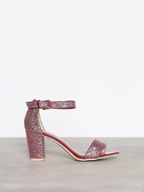 NLY Shoes Block Mid Heel Sandal Low Heel Rosa thumbnail