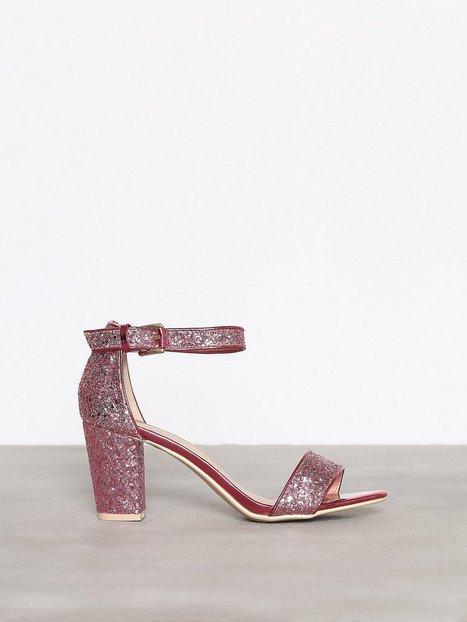 Billede af NLY Shoes Block Mid Heel Sandal Low Heel Rosa/Lyserød