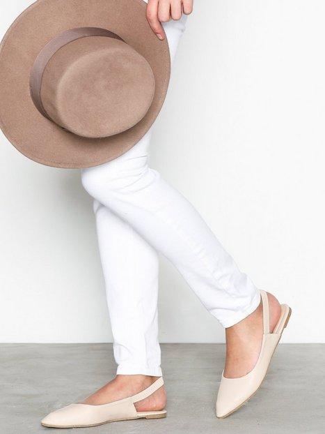 NLY Shoes Slingback Strap Ballerina Ballerina Beige