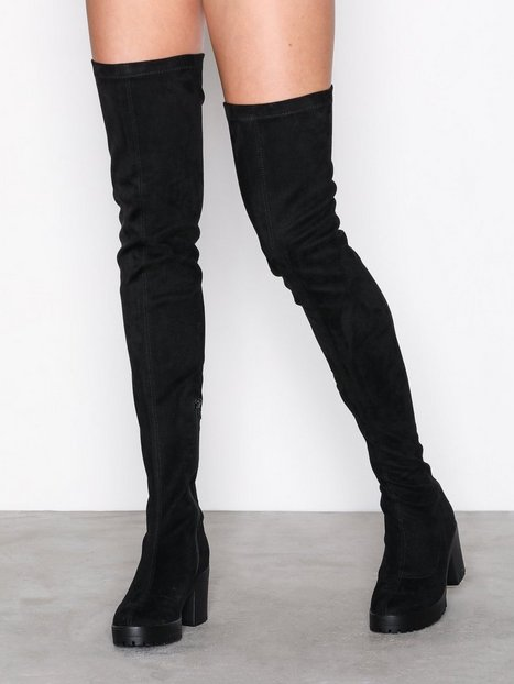 Billede af NLY Shoes Chunky Thigh High Boot Knee High Sort