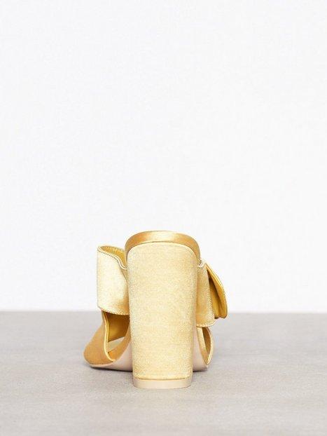 Satin Embellished Mule