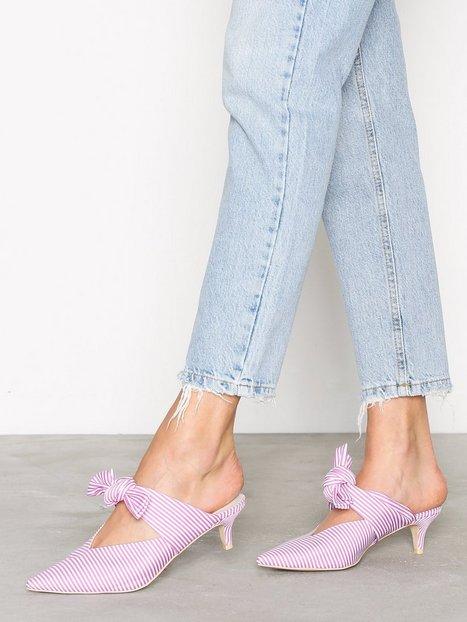 Billede af NLY Shoes Knot Pump Low Heel Rosa/Lyserød