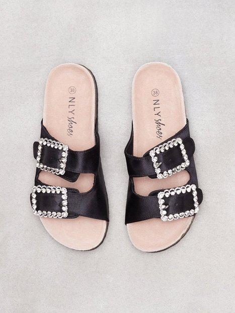 store discount 100% original Satin Buckle Sandal NLY Shoes for sale qQT7jt