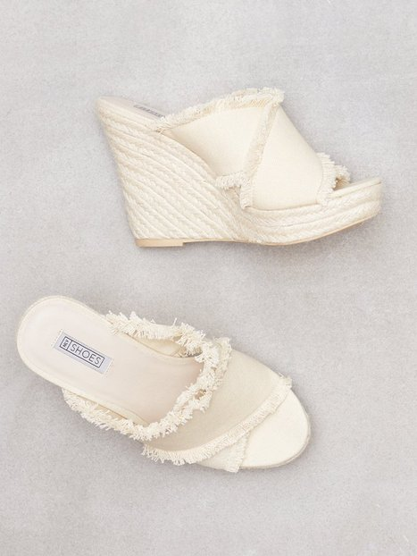 NLY Shoes Canvas Rope Mule High Heel Offwhite thumbnail