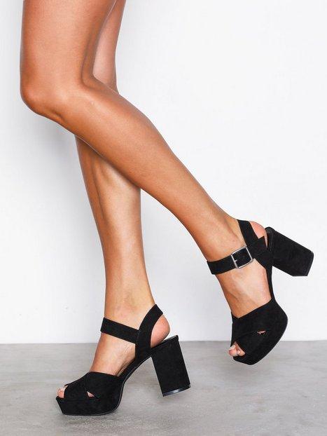 Billede af NLY Shoes Block Heel Platform Sandal High Heel Sort