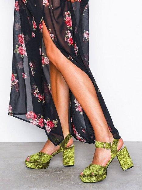 Billede af NLY Shoes Block Heel Platform Sandal High Heel Lysegrøn