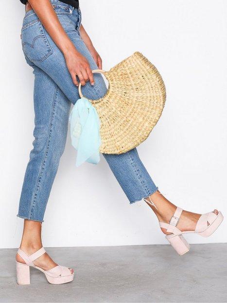 Billede af NLY Shoes Block Heel Platform Sandal High Heel Dusty Pink