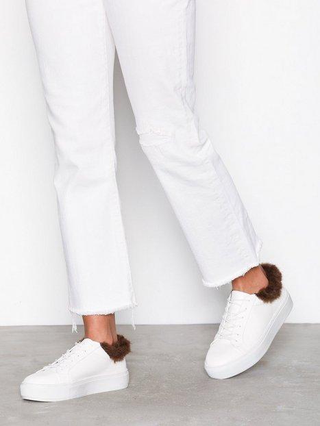 Billede af NLY Shoes Fuzz Ankle Sneaker Low Top Hvid