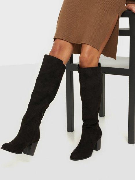 Billede af NLY Shoes Block Knee High Boot Knee-high Sort