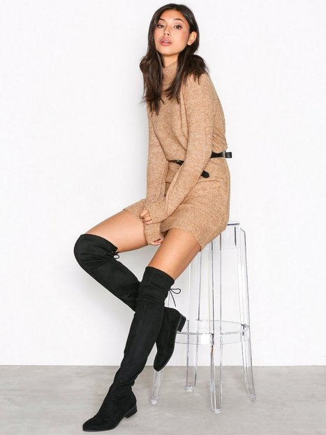 Billede af NLY Shoes Flat Thigh High Boot Thigh-high