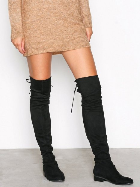 Flat Thigh High Boot