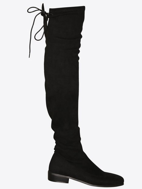 Flat Thigh High Boot - Nly Shoes - Black - Boots - Shoes - Women ...