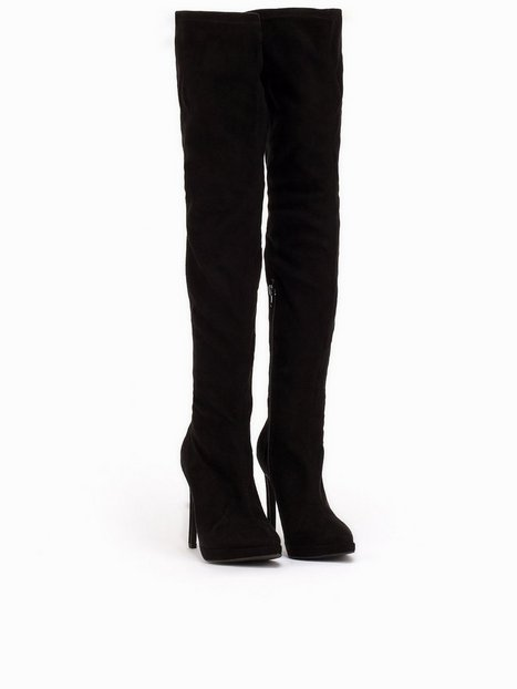 Thigh High Boot - Nly Shoes - Black - Boots - Shoes - Women ...